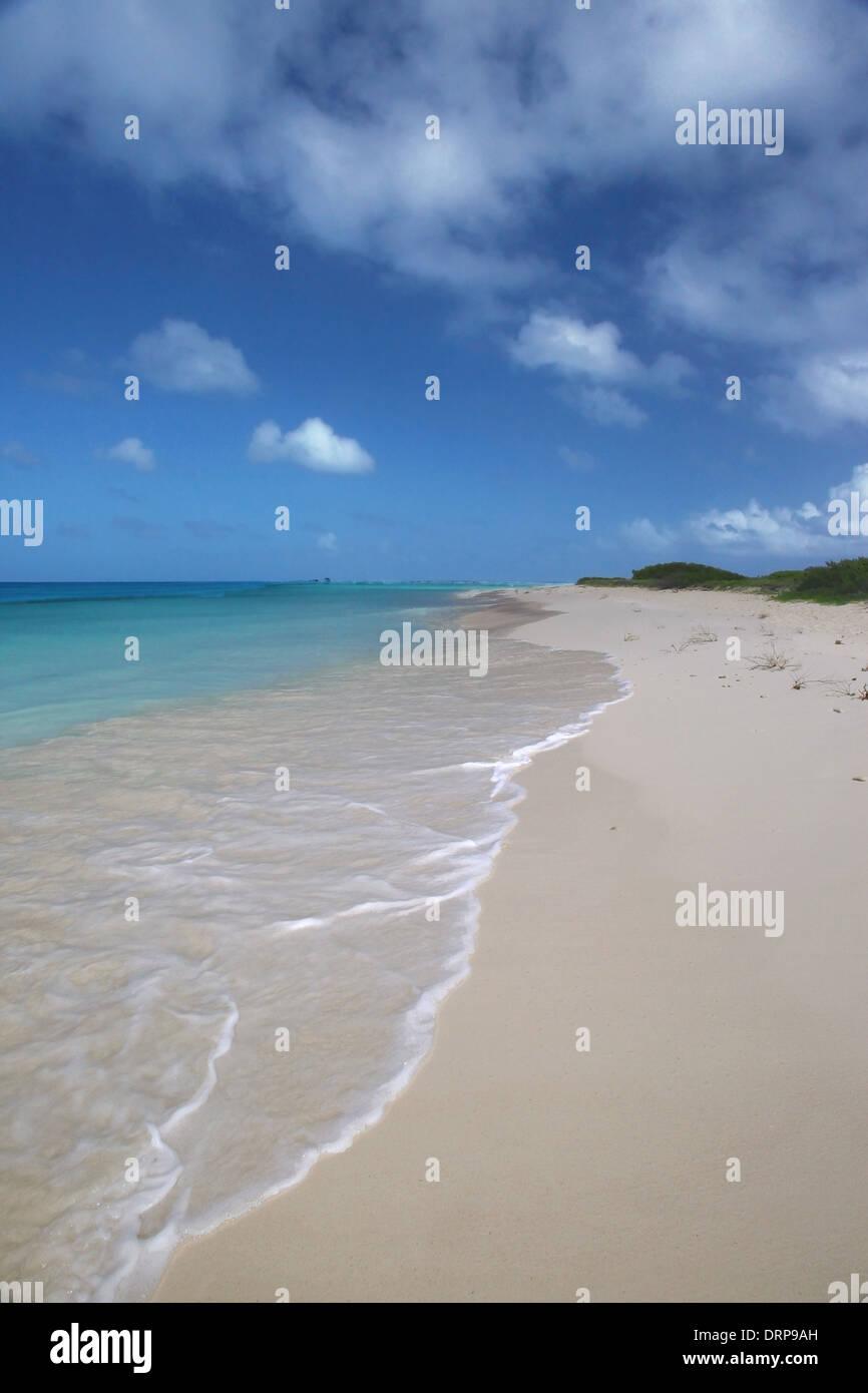 Los Roques Parco Nat, Venezuela , spiaggia di Isola Espenqui Immagini Stock