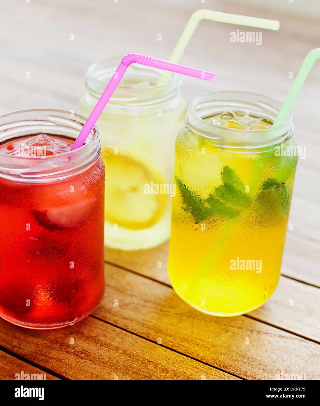 Bevande di frutta Immagini Stock