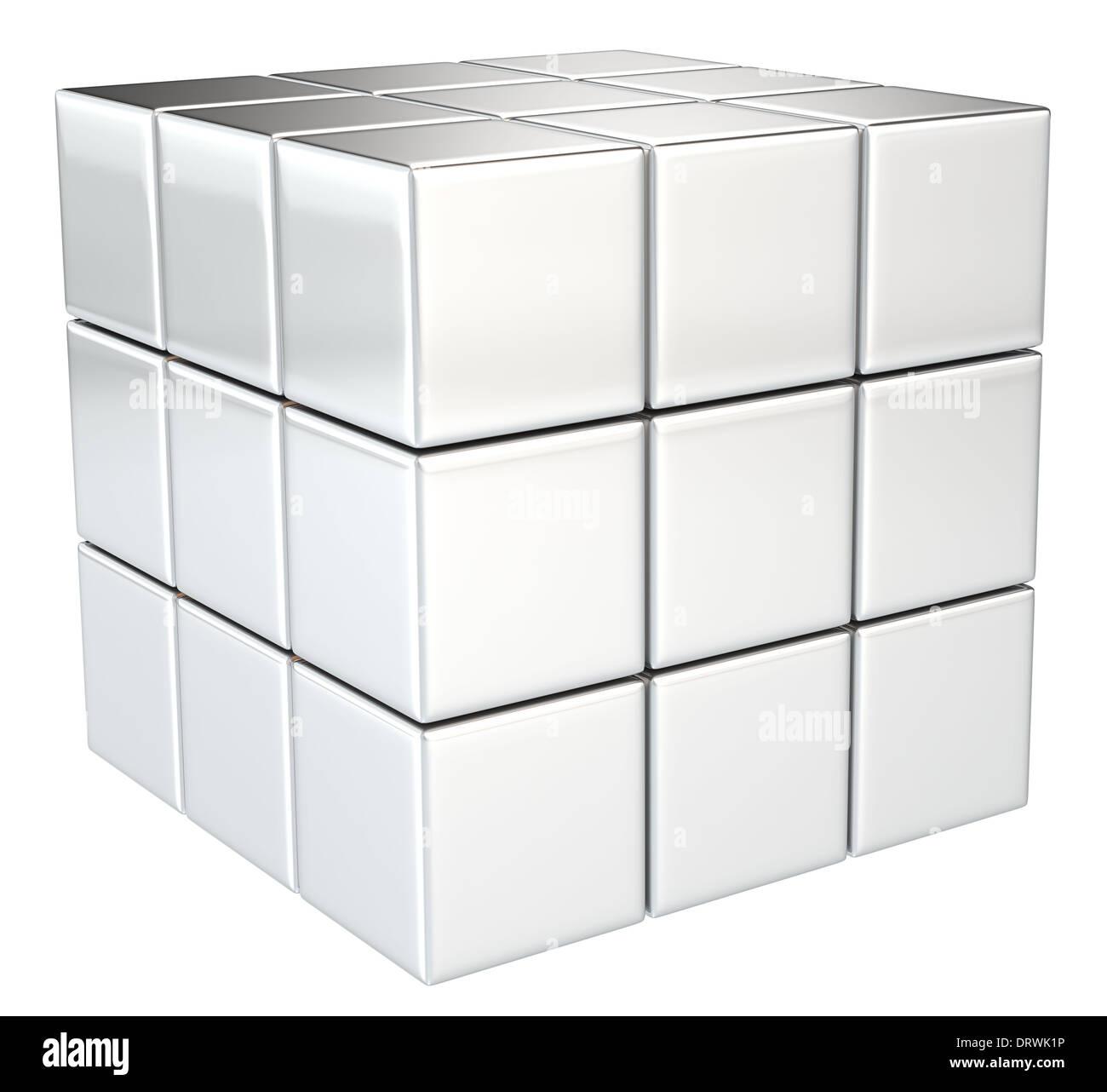 Cubo Di Metallo.Cubo Di Metallo Isolato Foto Immagine Stock 66331938 Alamy