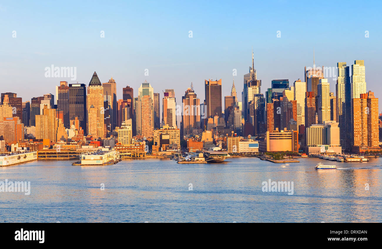 Skyline di Manhattan Immagini Stock