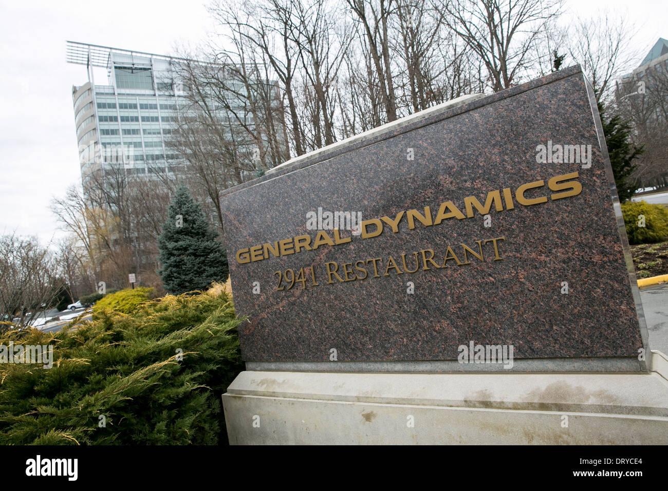 La sede della General Dynamics a Falls Church, Virginia. Immagini Stock