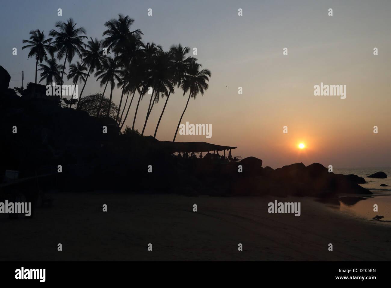 Palolem beach in Goa, India India del Sud foto: pixstory / Alamy Immagini Stock