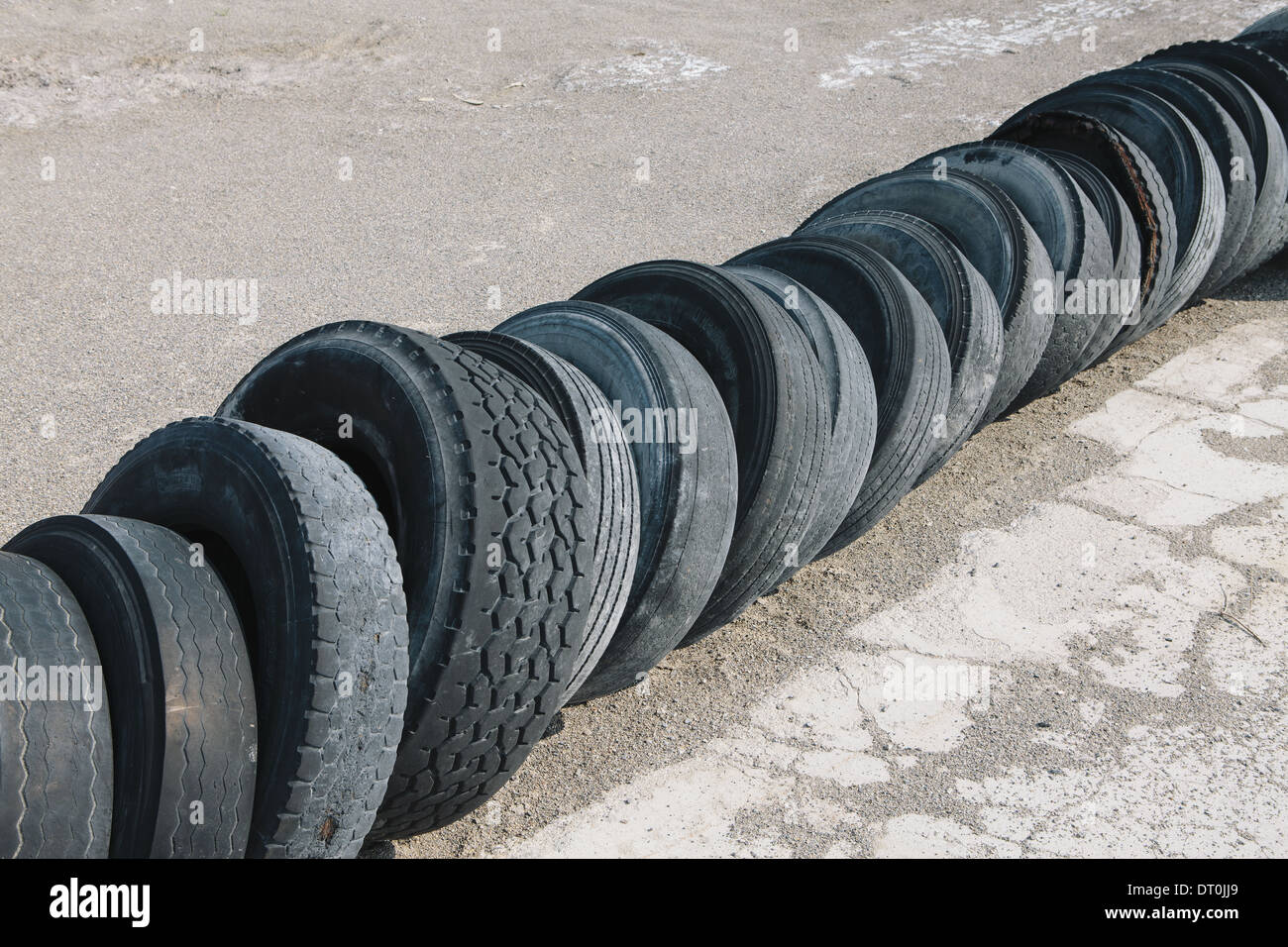 USA Utah fila di pneumatici scartati Immagini Stock