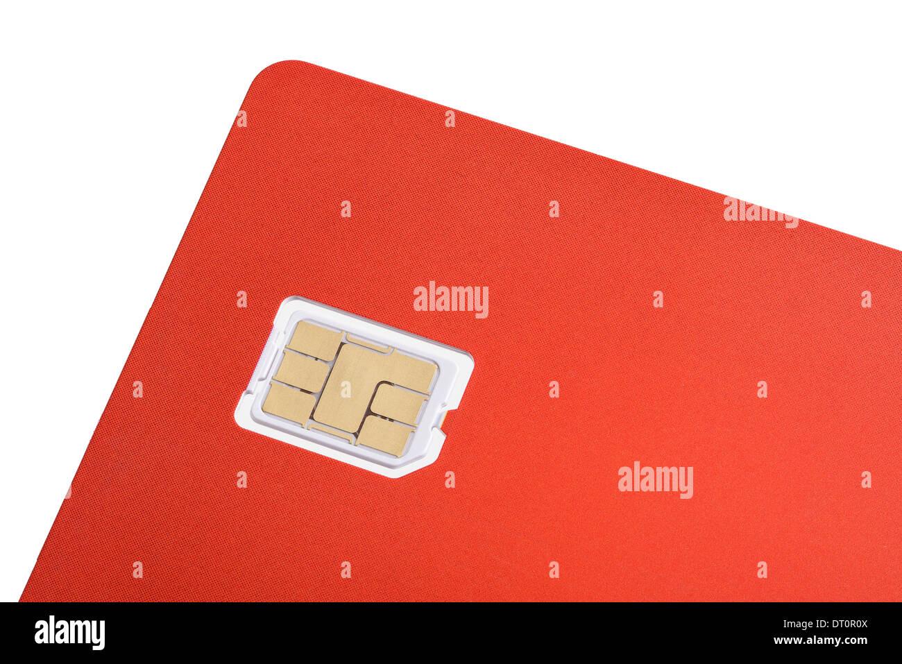 Nano scheda sim di un telefono cellulare Immagini Stock