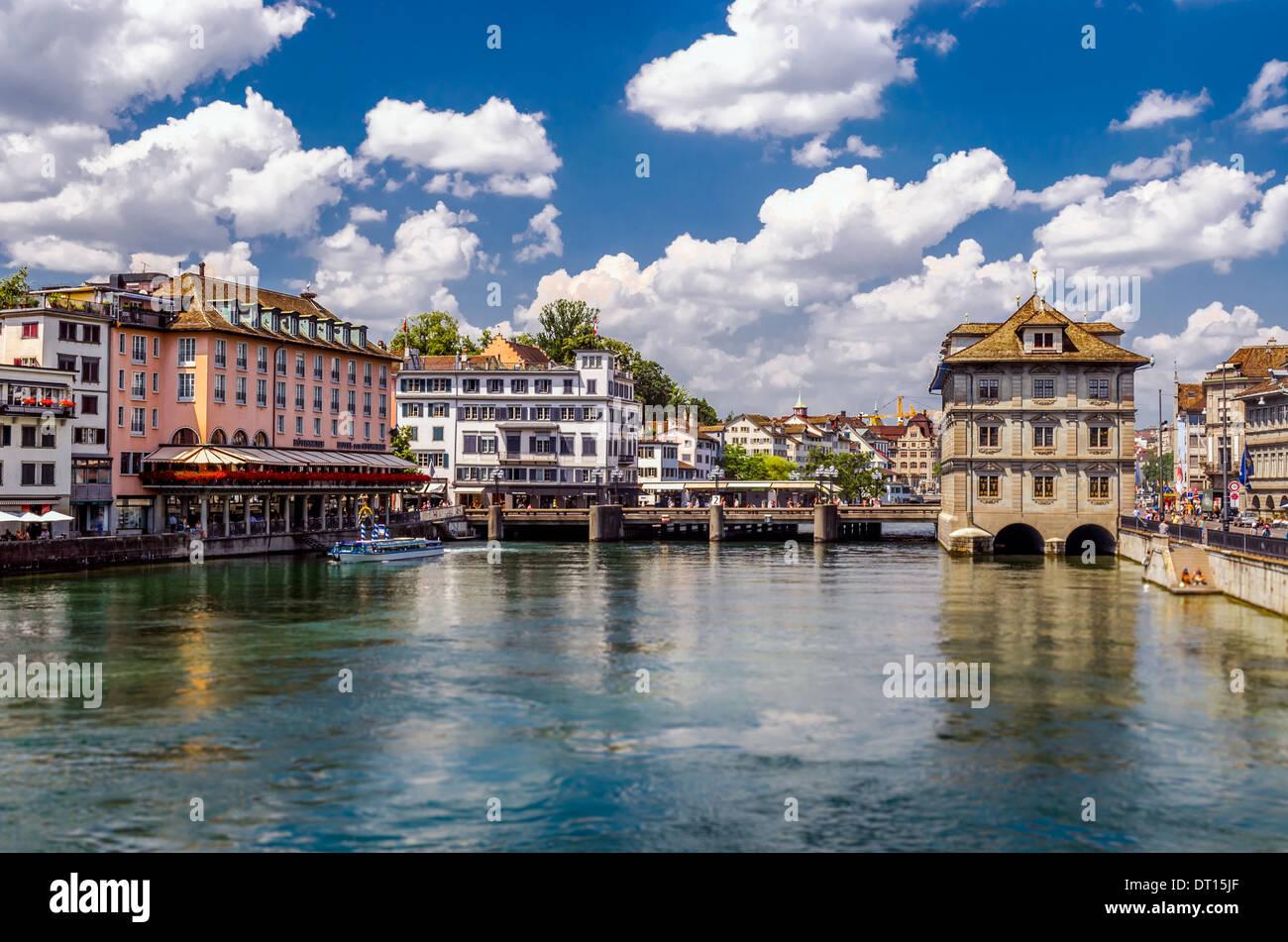 Lago di Zurigo, Svizzera Immagini Stock
