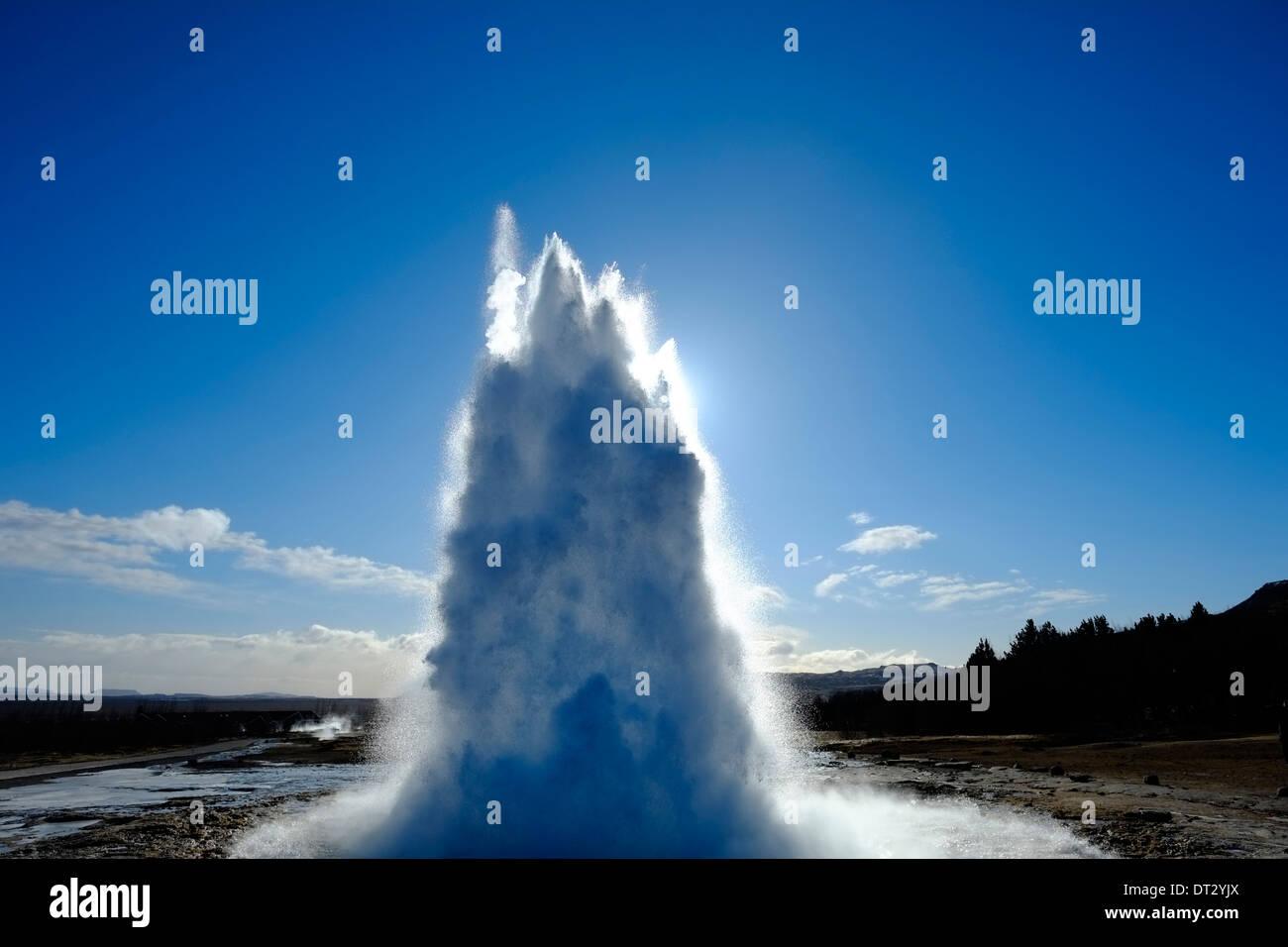 Strokkur, Geysir, Haukadalur, SW Islanda, regione polare Immagini Stock
