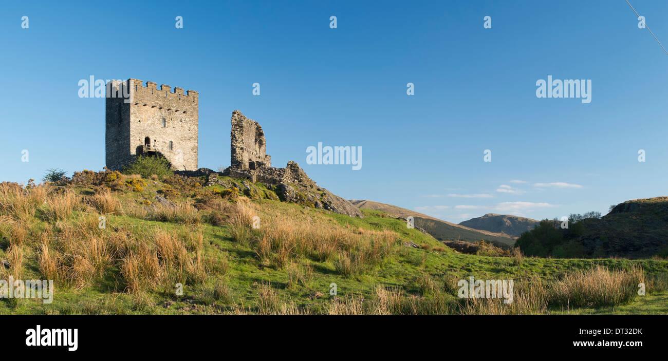 Il castello di dolwyddelan, Snowdonia National Park, il Galles del Nord Foto Stock