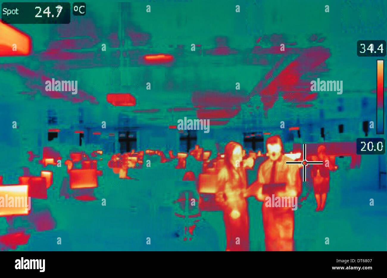 Il calore a infrarossi immagine di office Immagini Stock
