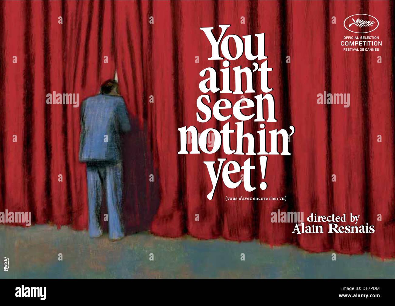 POSTER del filmato non è finita qui.; Vous n'AVEZ ENCORE RIEN VU (2012) Immagini Stock