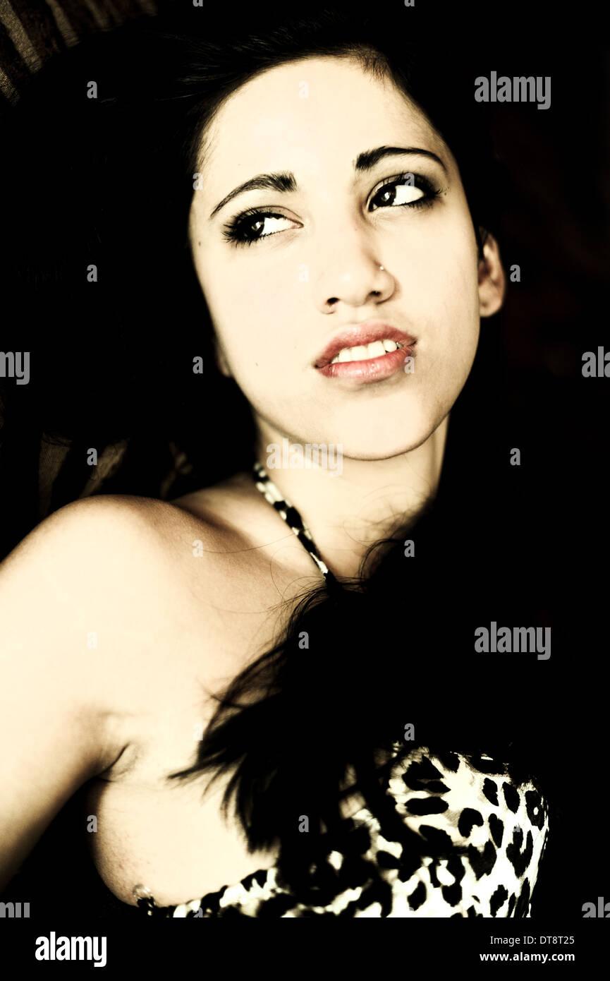 Giovane, bella donna (modello-rilasciato) Foto Stock