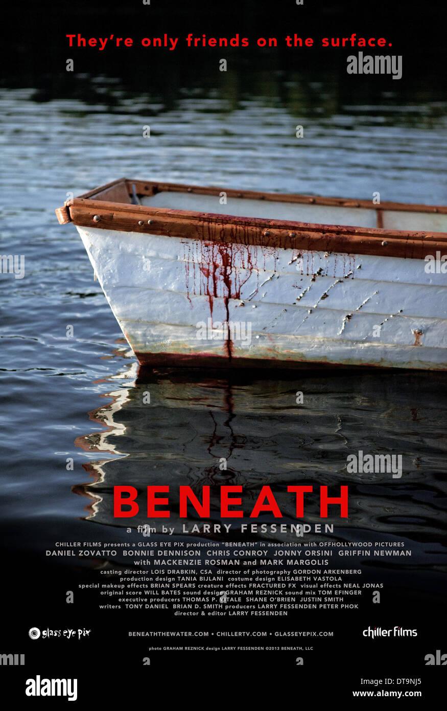 Macchiate di sangue barca a remi al di sotto (2013) Immagini Stock