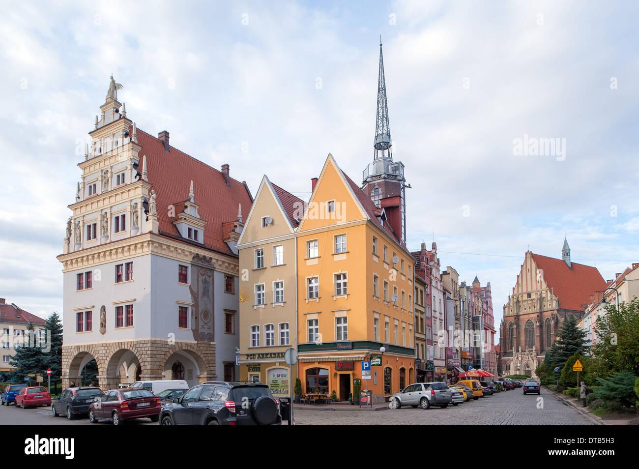 Nysa, Polonia, l'anello ( Rynek Foto & Immagine Stock: 66628719 ...