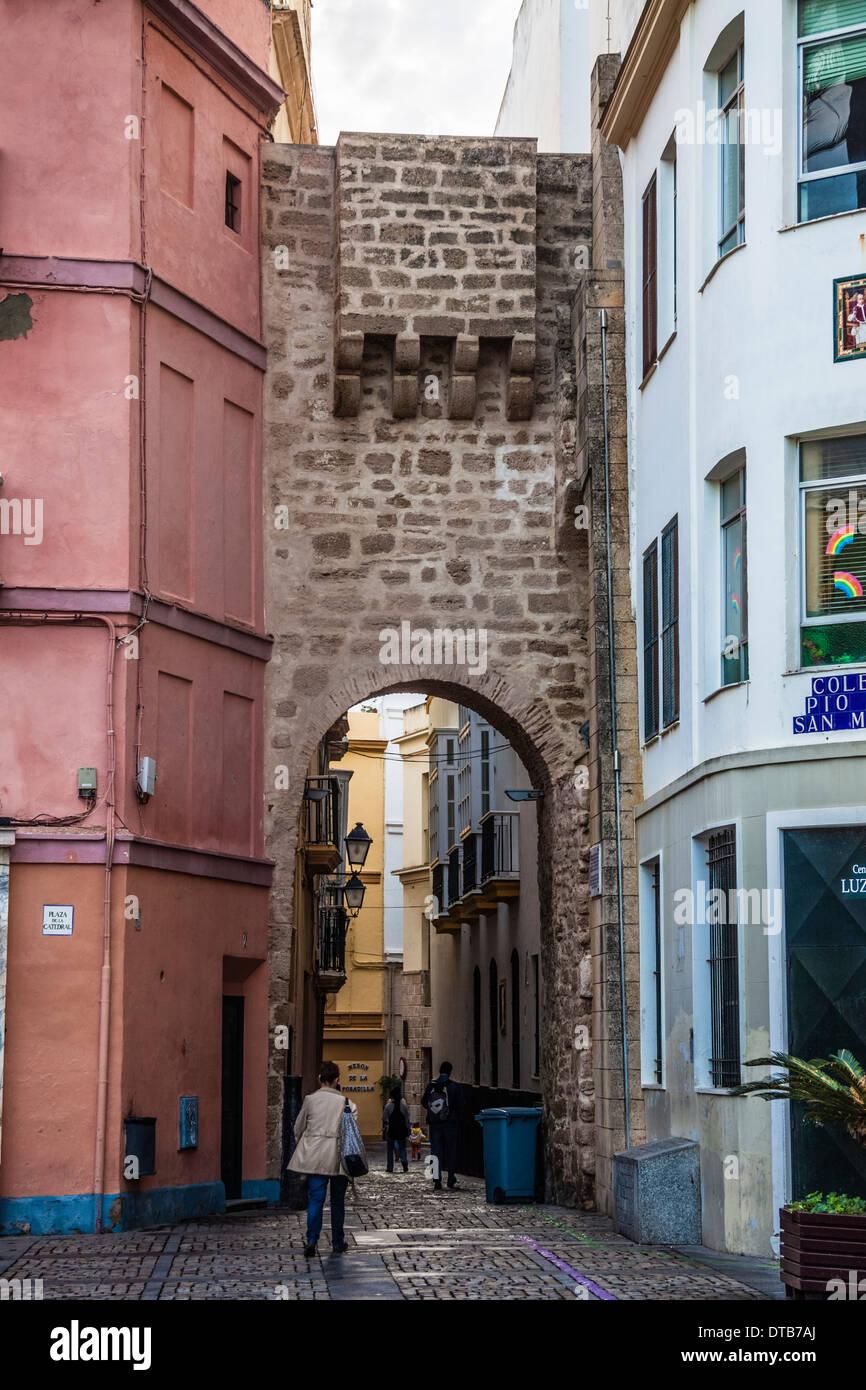 Arco de la Rosa, Cadice, Andalusia, Spagna Immagini Stock