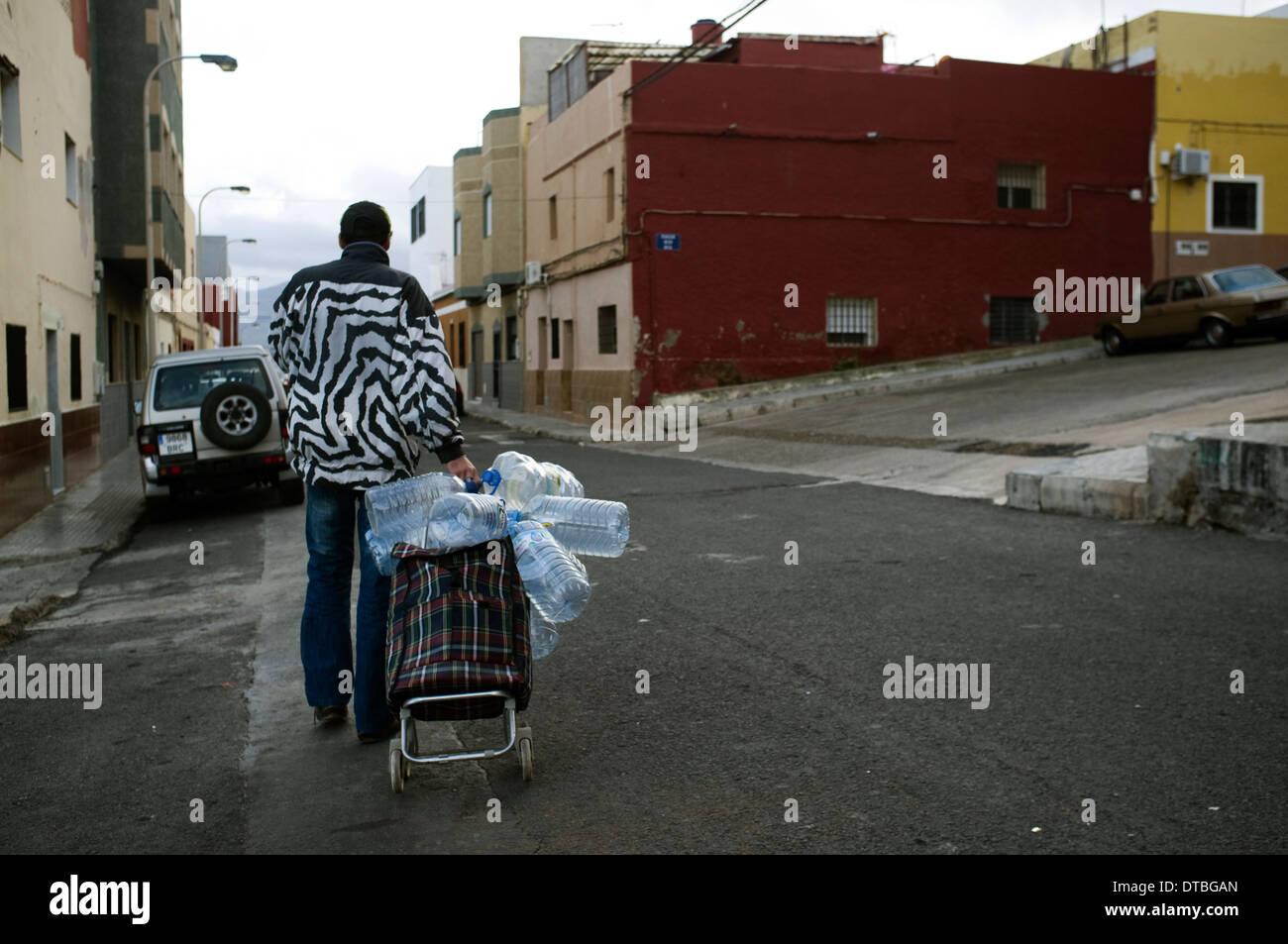 Quartiere islamico di Monte Maria Cristina di Melilla, Spagna. la povertà povero sobborgo di disoccupati Immagini Stock