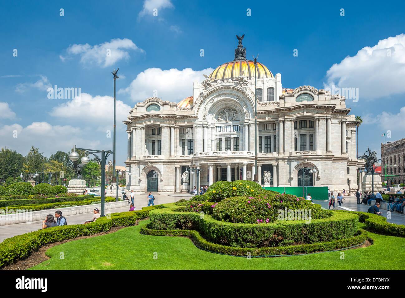 Palacio de Bellas Artes di Città del Messico Immagini Stock