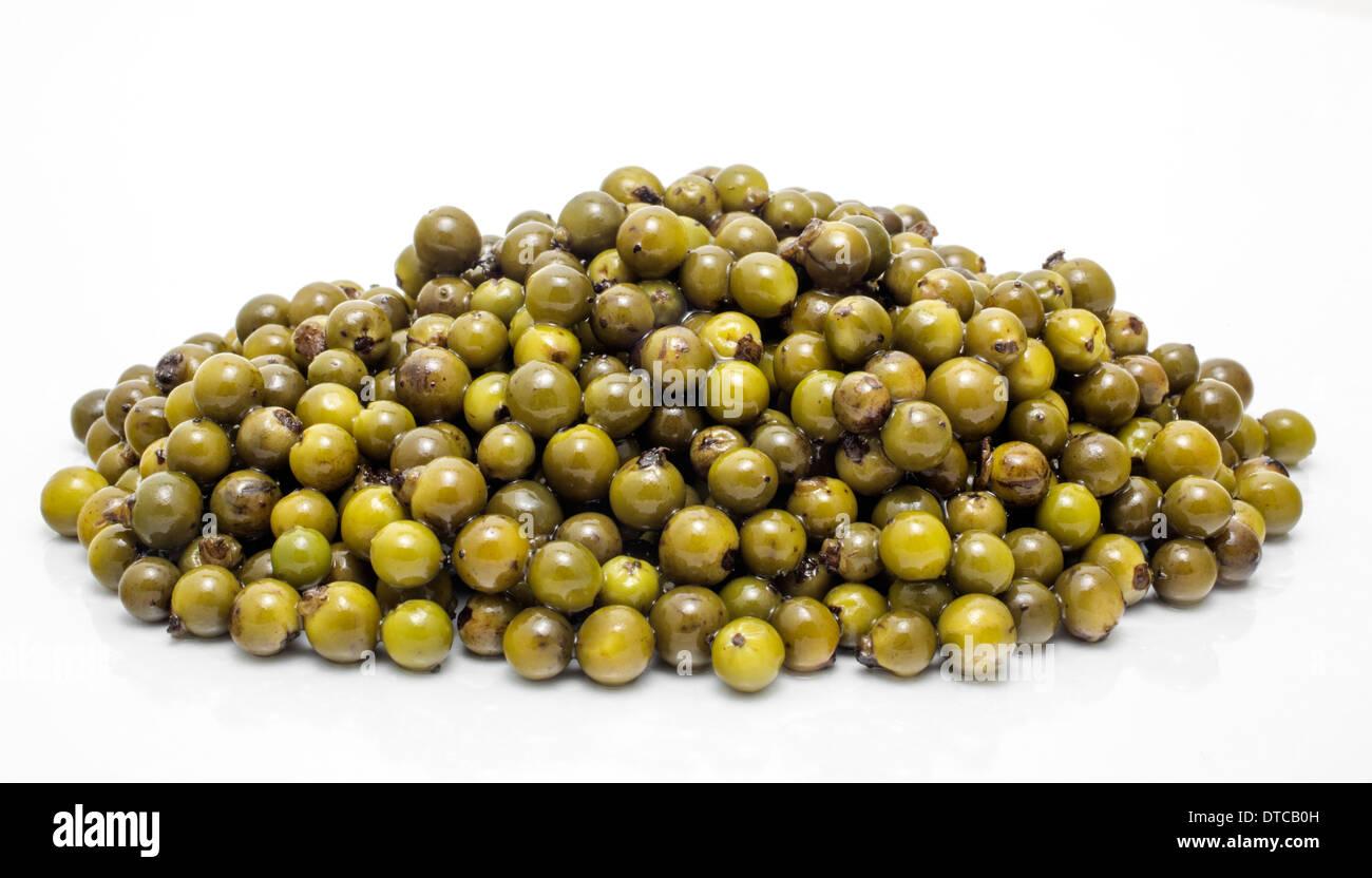 Il pepe verde specie pimienta verde especie Immagini Stock