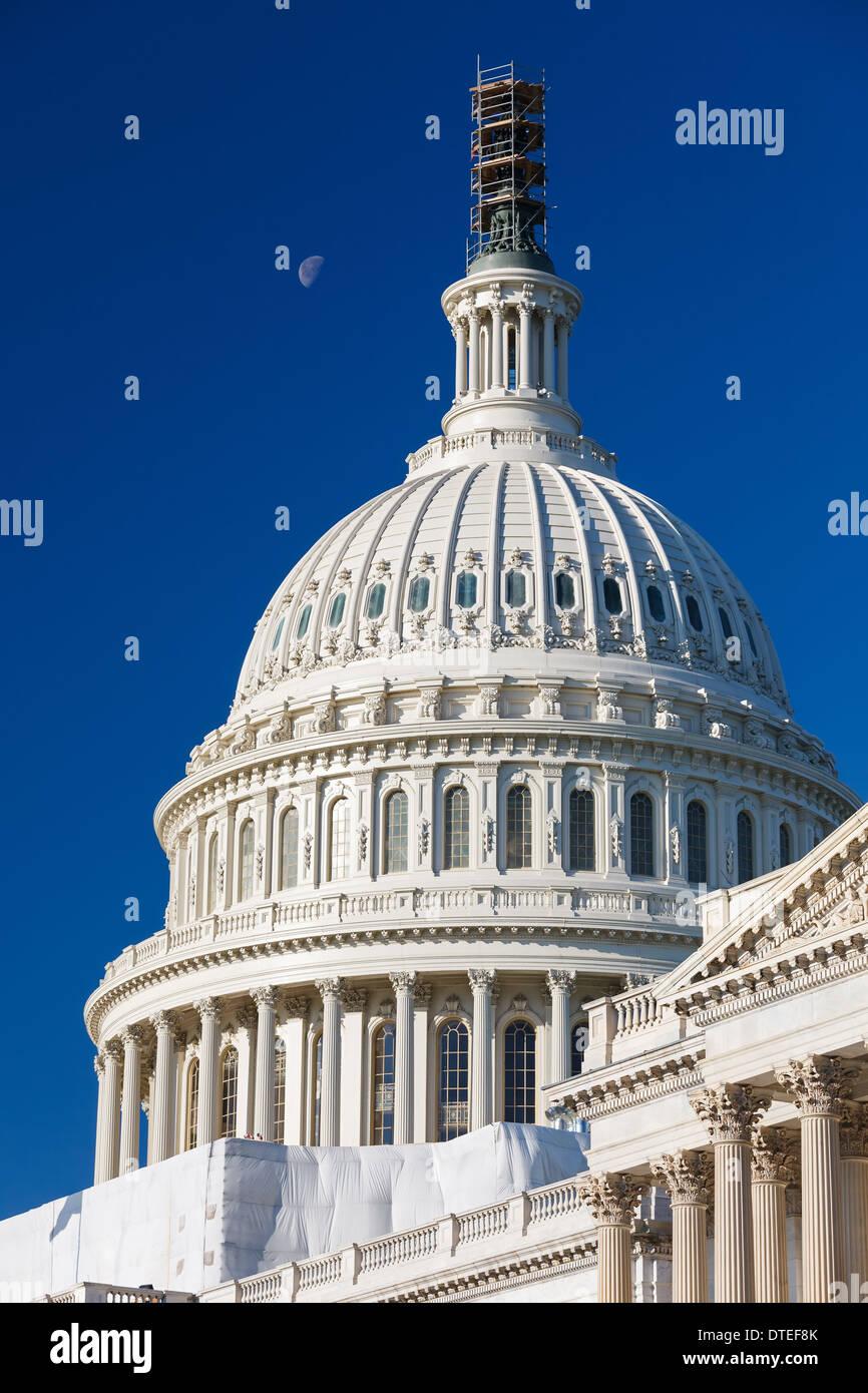 La cupola del Campidoglio degli Stati Uniti Immagini Stock