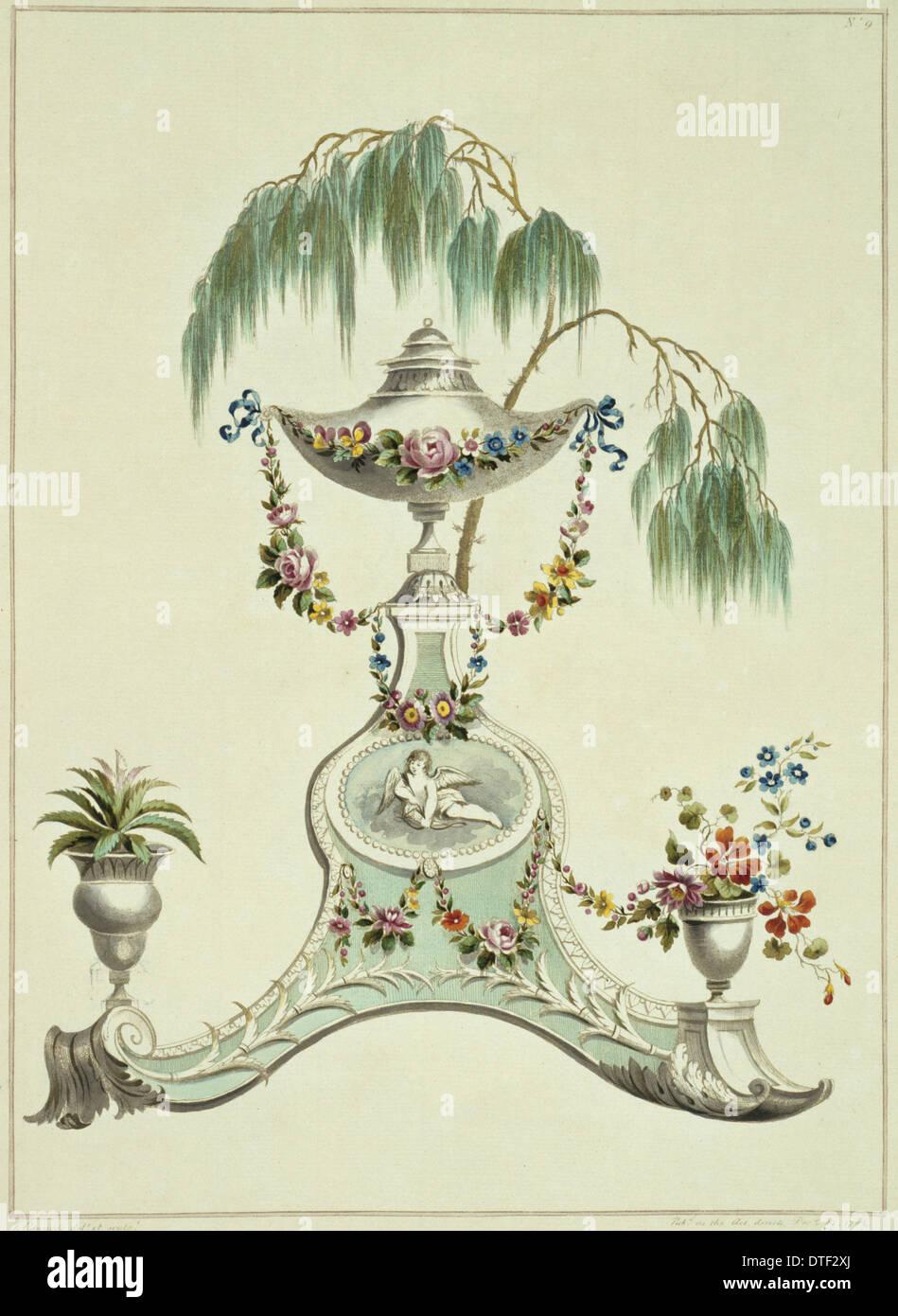 Folio 10 da una raccolta di fiori da John Edwards Immagini Stock