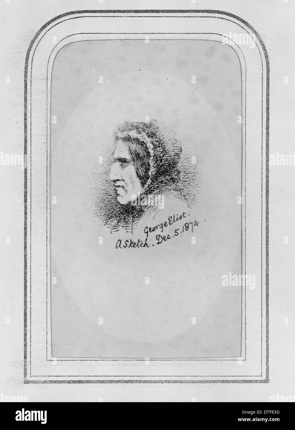 George Eliot (1819-1880) Immagini Stock