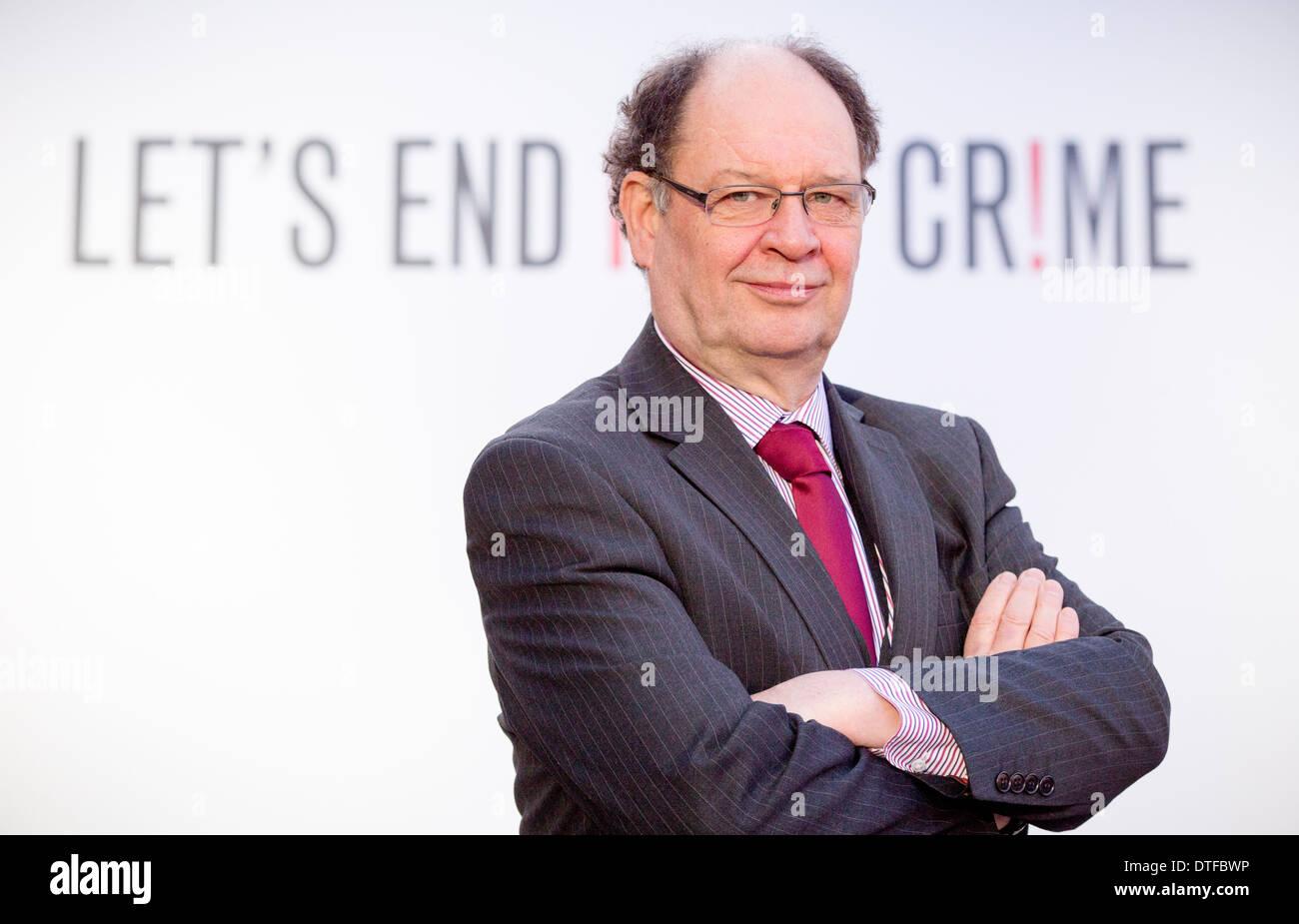Manchester antimperialismo strategia a Manchester Town Hall Cllr Jim battaglia Immagini Stock