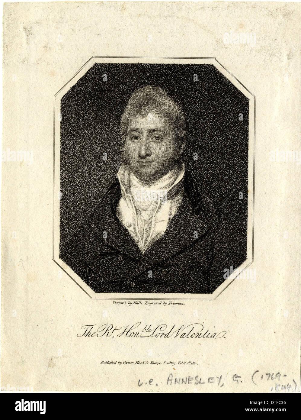 George Annesley (1769-1844) Immagini Stock