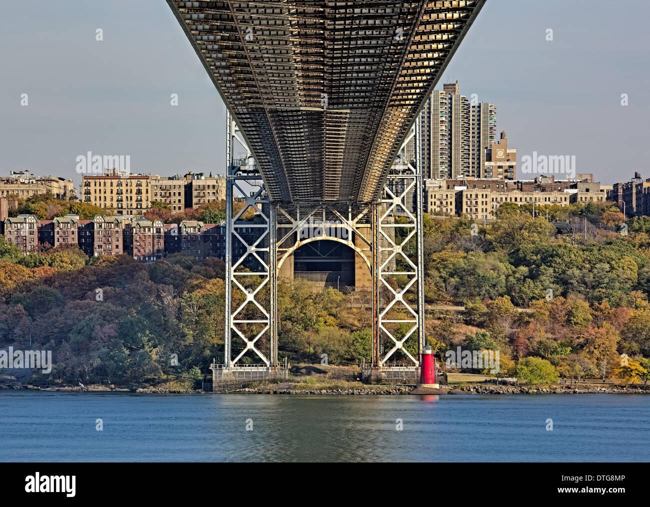Una Vista Da Sotto Il Ponte George Washington Bridge Gw A Ponte A