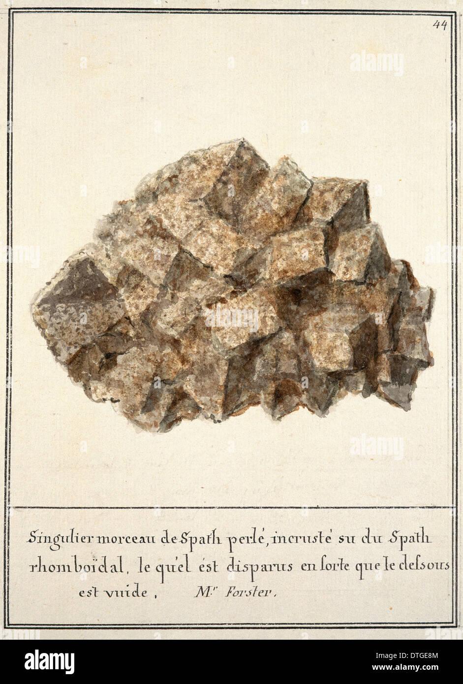La piastra 44 dal volume Mineralogie 1 (1790) da Swebach Desfontaines Immagini Stock