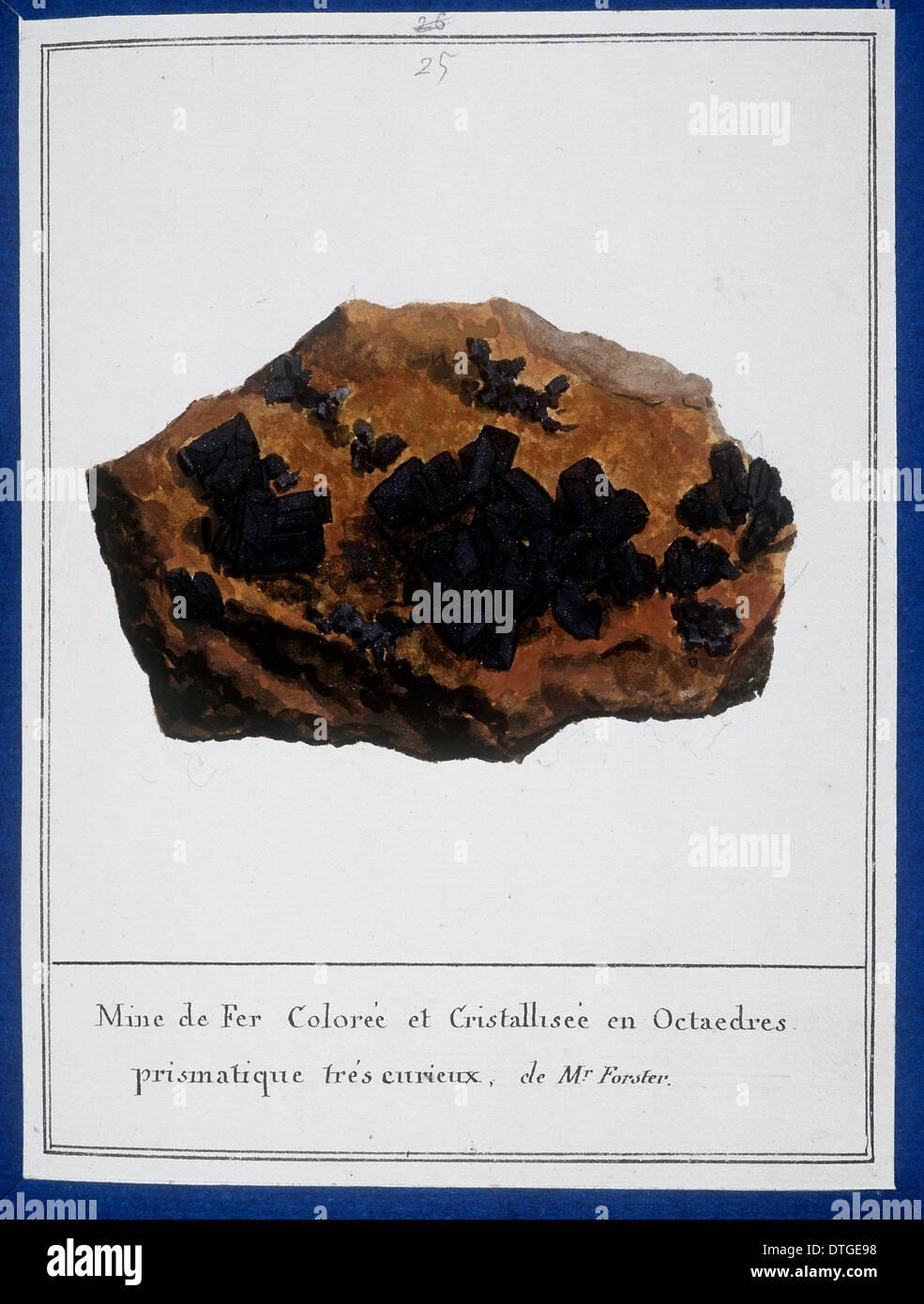 La piastra 25 da Mineralogie da Swebach Desfontaines Immagini Stock