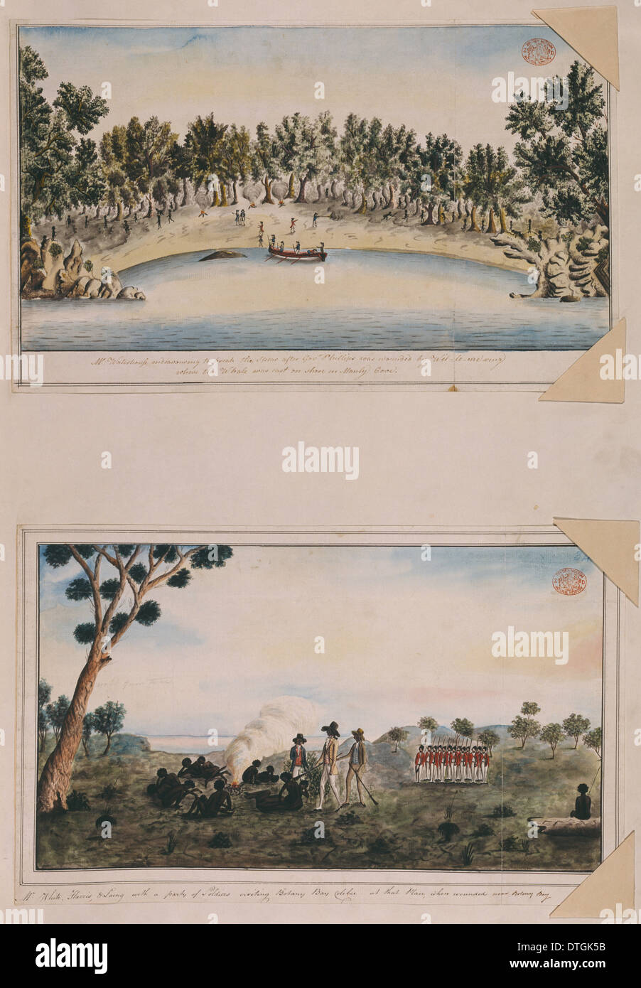 Disegni 24-25 dal Watling Collection Immagini Stock