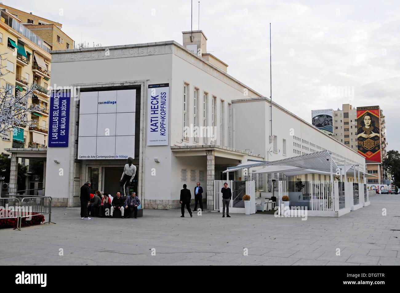 Centro de Arte Contemporaneo, centro di arte contemporanea, Malaga, provincia di Malaga, Andalusia, Spagna Immagini Stock
