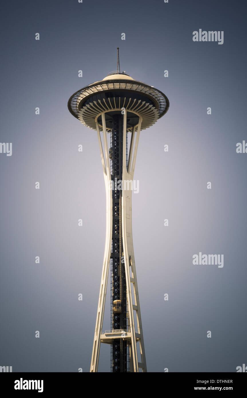 Lo Space Needle e il Seattle, Washington, Stati Uniti d'America Immagini Stock