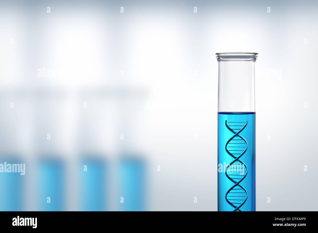 Concettuale - Ricerca di DNA o di test in un laboratorio Immagini Stock