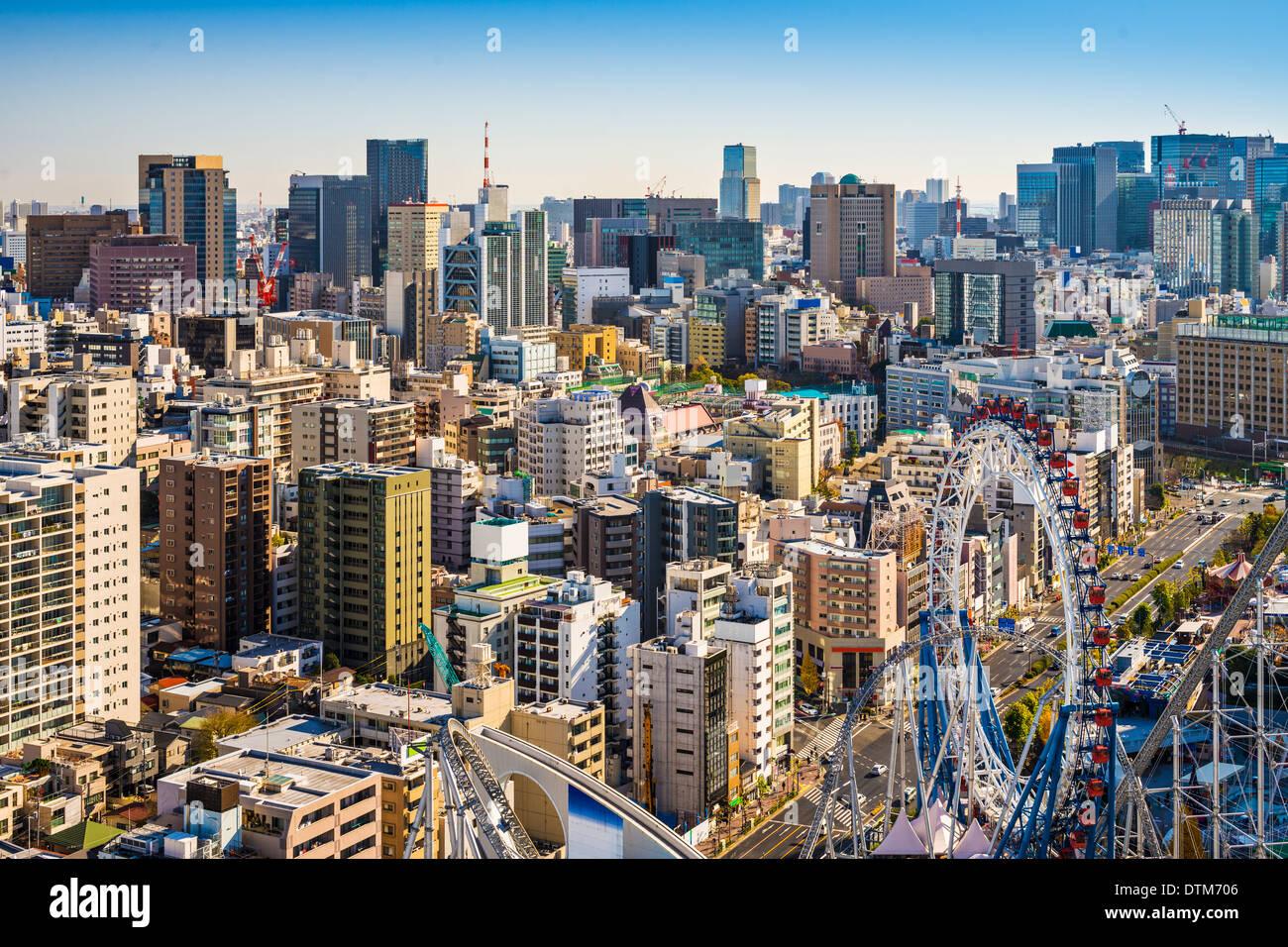 Tokyo, Giappone cityscape da Bunkyo Ward. Immagini Stock