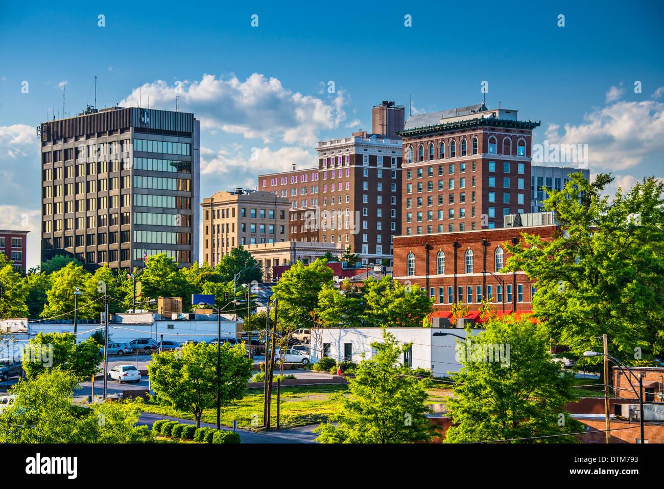 Greenville, South Carolina, Stati Uniti d'America centro di edifici. Immagini Stock