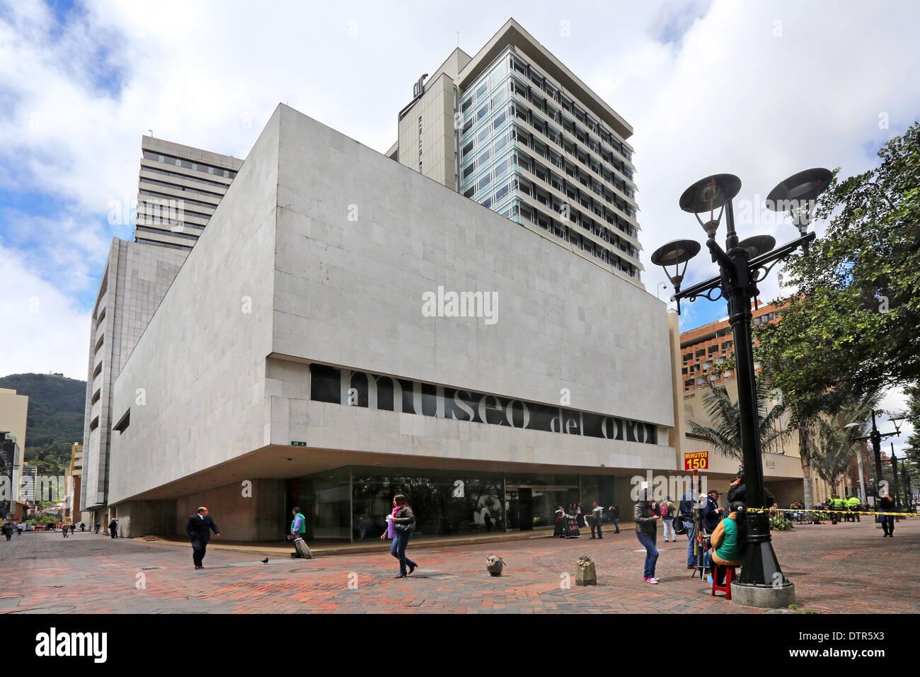 Museo dell'oro, Museo del Oro, a Bogotà, Columbia Immagini Stock