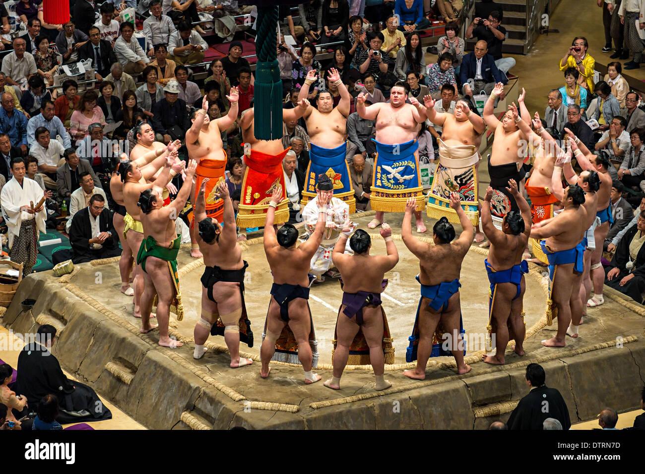 2013 Settembre Grandi Campionati di Sumo in Tokyo Immagini Stock