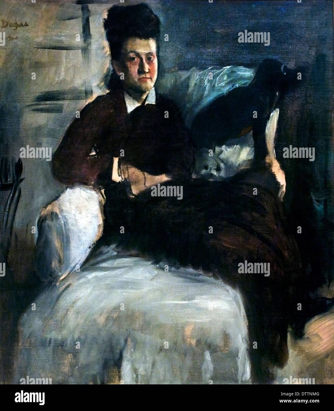La signora Jeantaud 1877 Edgar Degas 1834-1917 Francia Immagini Stock
