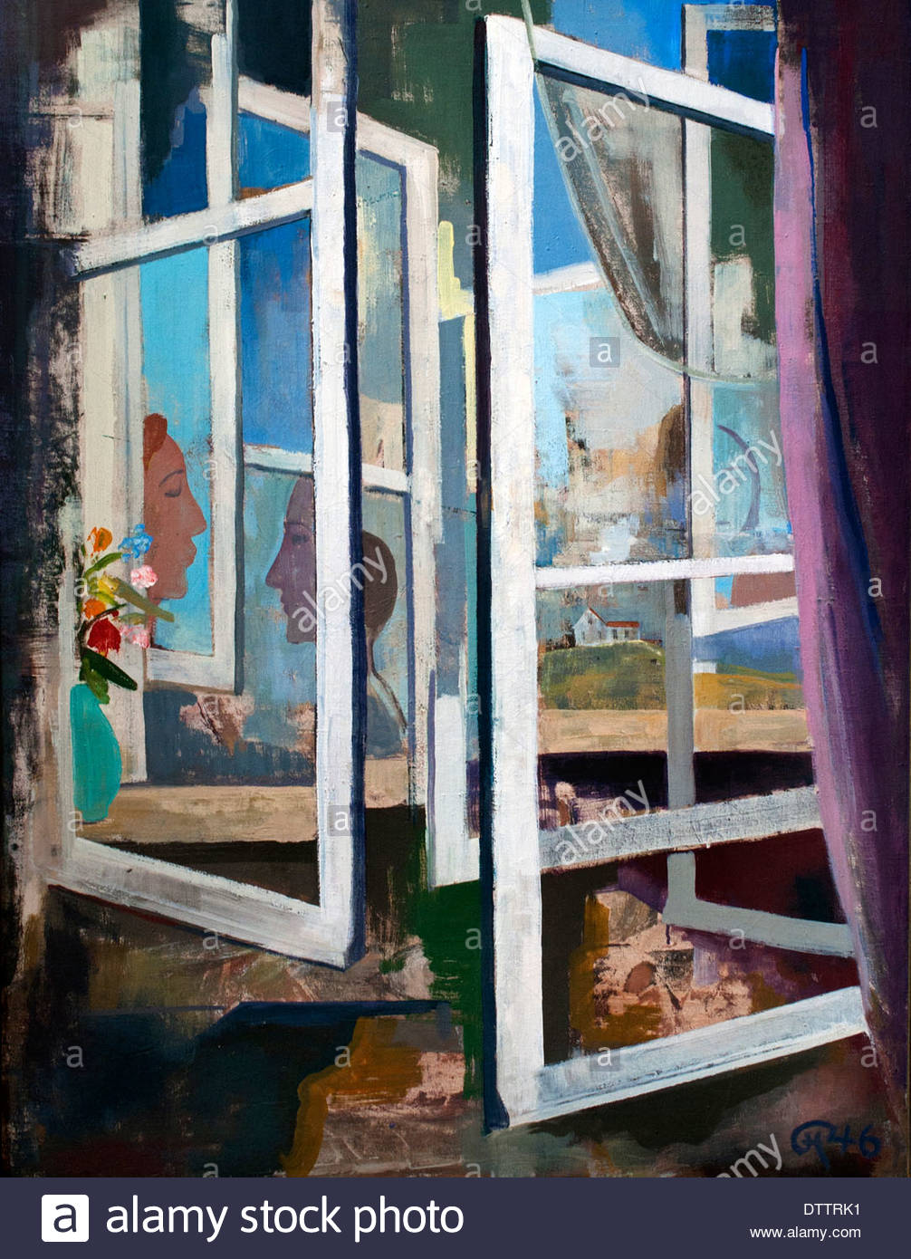Windows 1946 Karl Hofer 1878-1955 il tedesco in Germania Immagini Stock