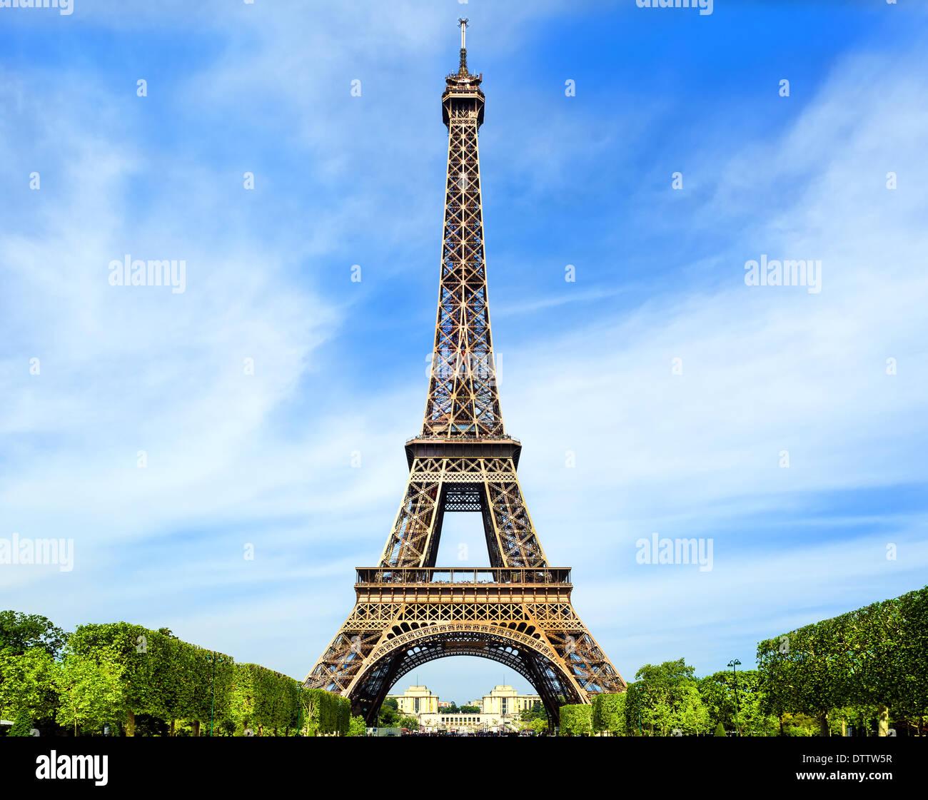 Fantastica Torre Eiffel a Parigi Immagini Stock