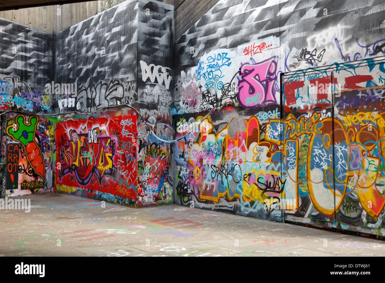Coloratissimo graffito Immagini Stock