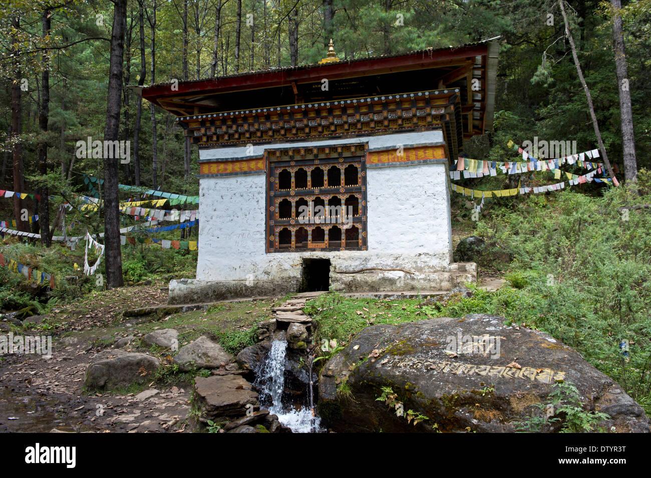 Well House, architettura tradizionale, Paro, Bhutan Immagini Stock