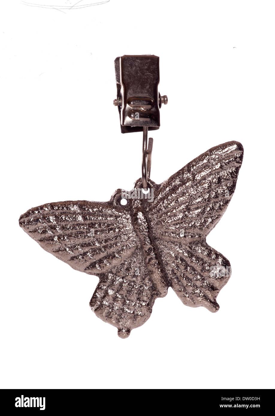Silver Butterfly studio clip intaglio Immagini Stock