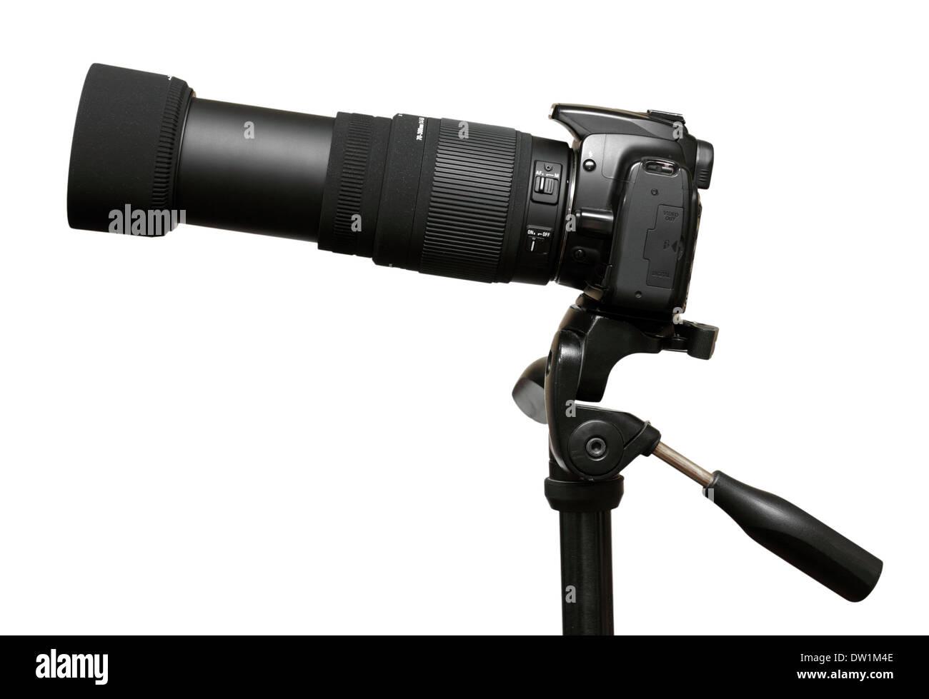 Telecamera con teleobiettivo con zoom Immagini Stock