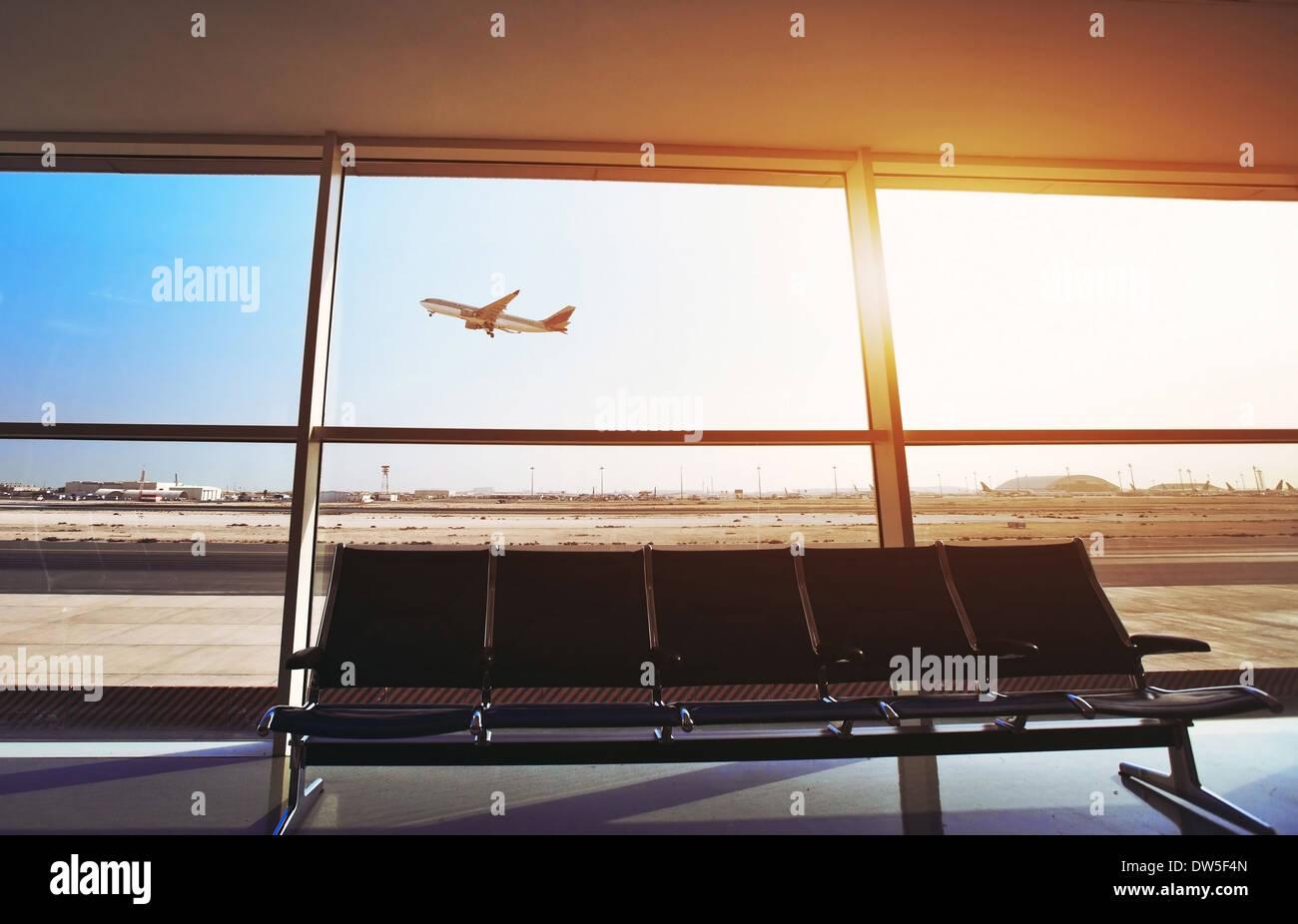 in aeroporto Immagini Stock