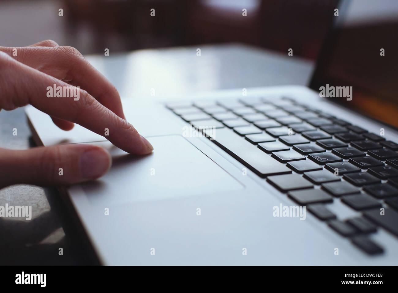 Il touchpad del notebook Immagini Stock