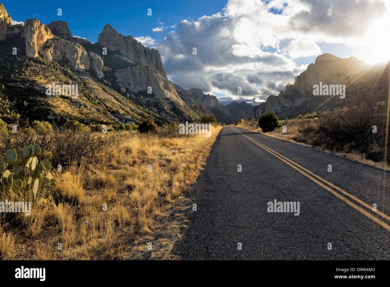 Scenic Arizona strade indietro Immagini Stock