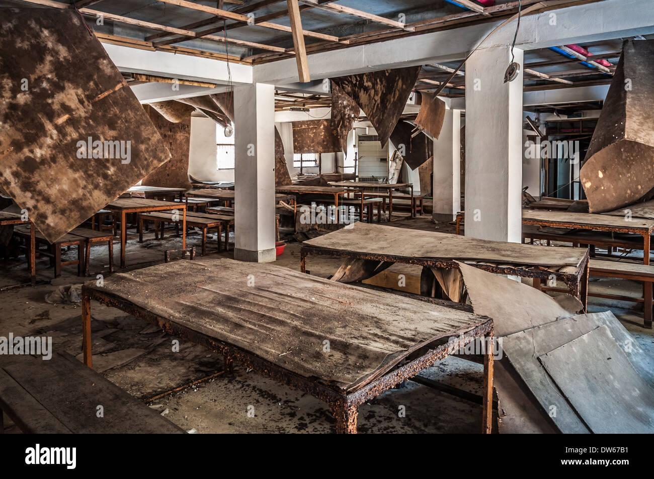 Gonjiam ospedale psichiatrico in Corea del Sud. L ospedale è stato abbandonato quasi venti anni fa. Immagini Stock