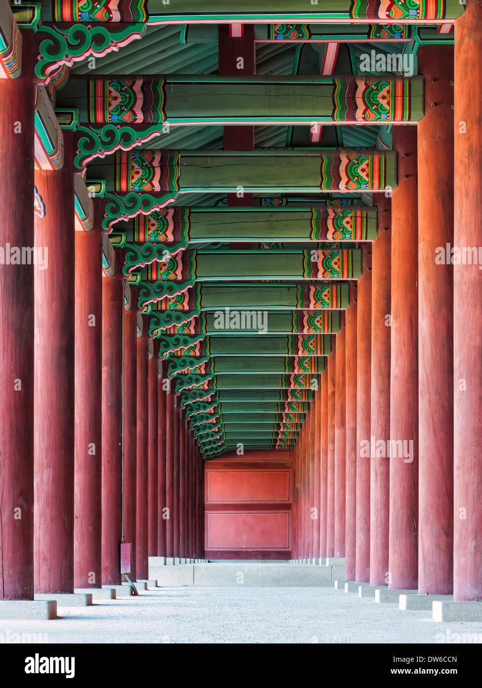 Palazzo di Changdeokgung a Seul, in Corea del Sud. Immagini Stock