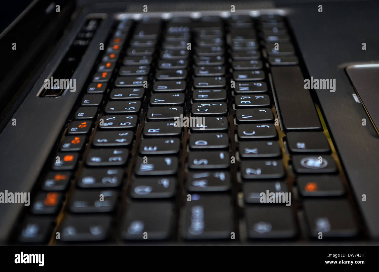 Tastiera di un computer portatile! Immagini Stock