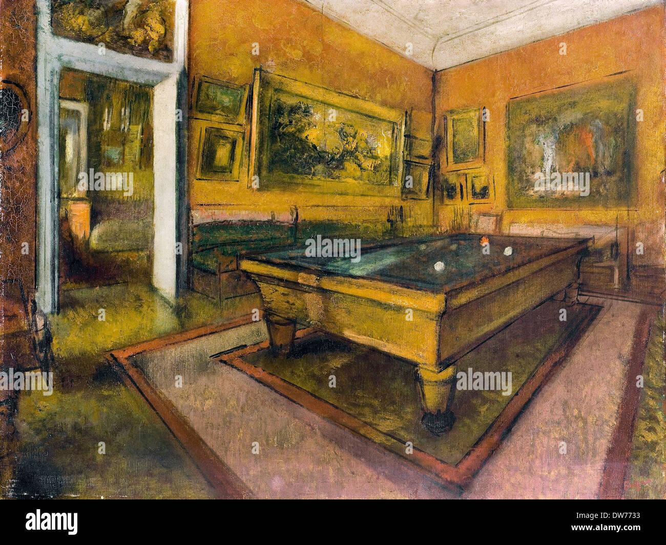 Sala Da Biliardo Degas : Edgar degas sala biliardo a menil hubert olio su tela musee